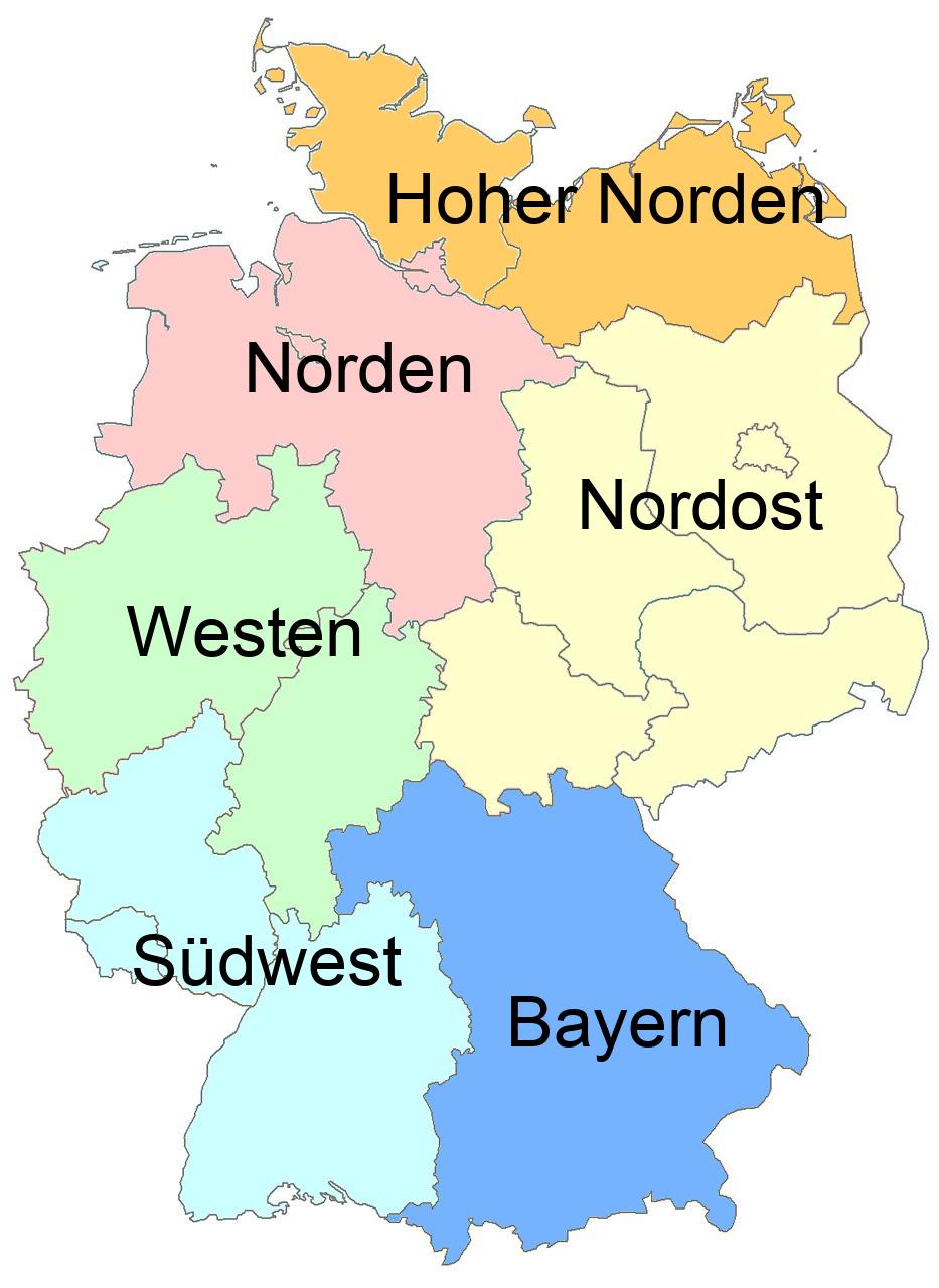 Deutschlandkarte der Regionalkoordinatoren